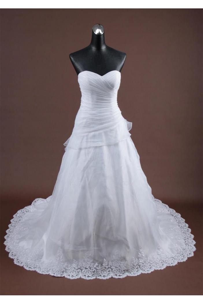 A-line Sweetheart Chapel Train Bridal Wedding Dresses WD010167