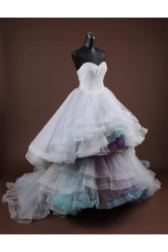 Ball Gown Sweetheart Court Train Bridal Wedding Dresses WD010168