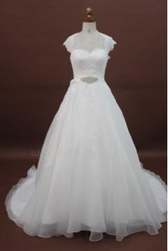A-line Chapel Train Lace Bridal Wedding Dresses WD010175