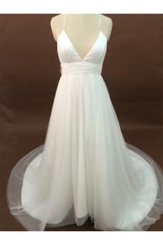 Sexy A-line Chapel Train Bridal Wedding Dresses WD010181