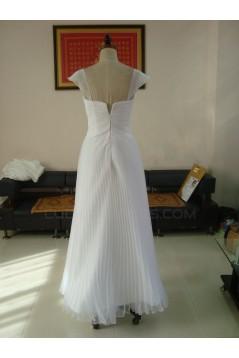 A-line Floor Length Chiffon Bridal Wedding Dresses WD010182