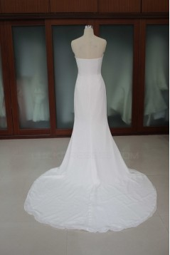 Trumpet/Mermaid Court Train Bridal Wedding Dresses WD010187