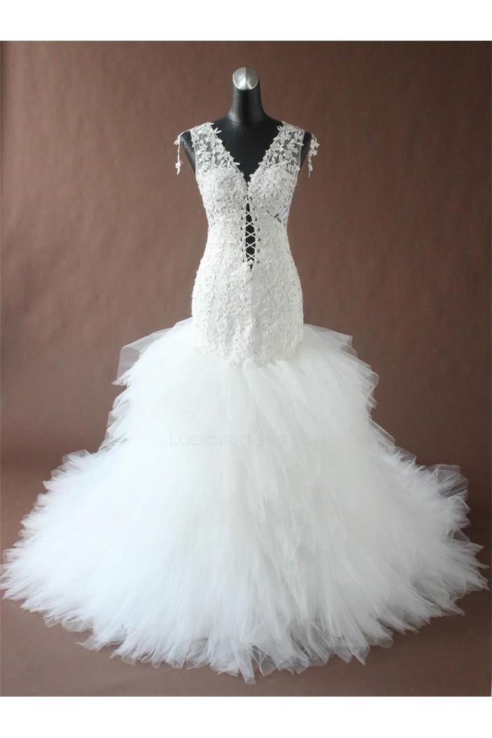 Sexy Trumpet/Mermaid Lace Bridal Wedding Dresses WD010194