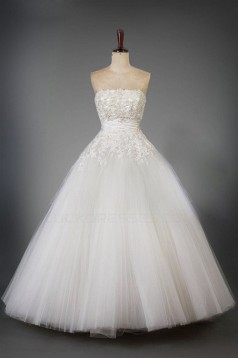 Ball Gown Strapless Lace Bridal Wedding Dresses WD010202