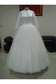 Ball Gown 3/4 Sleeves Bridal Wedding Dresses WD010207