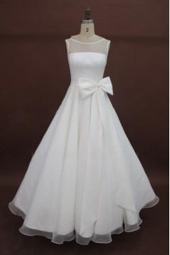 A-line Floor Length Bridal Wedding Dresses WD010208