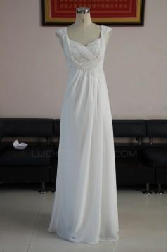 Sheath/Column Floor Length Chiffon Bridal Wedding Dresses WD010217