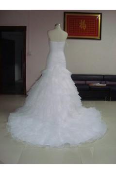 Trumpet/Mermaid Strapless Bridal Wedding Dresses WD010220