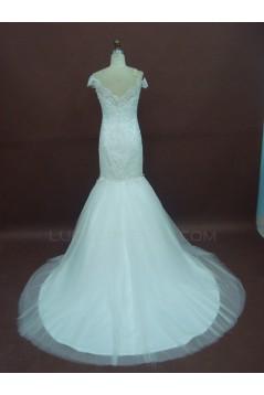 Trumpet/Mermaid Off the Shoulder Bridal Wedding Dresses WD010224
