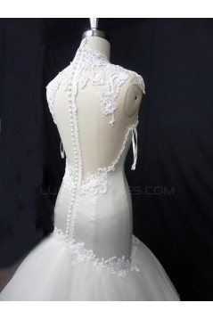 Trumpet/Mermaid Court Train Lace Bridal Wedding Dresses WD010226
