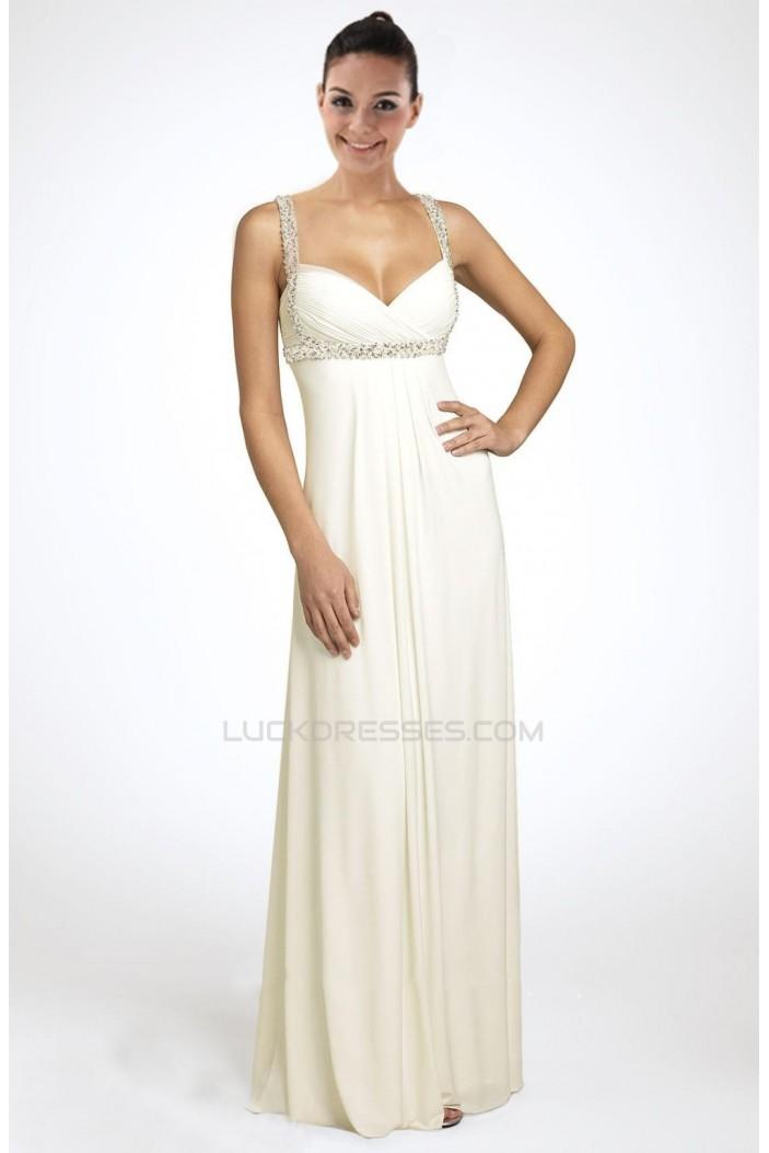 Sheath/Column Beaded Chiffon Bridal Wedding Dress WD010235