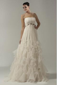 Empire Strapless Bridal Wedding Dress WD010236