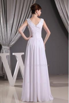 Sheath/Column Floor Length Beaded Straps Bridal Wedding Dress WD010244