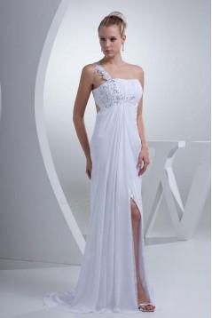 Sheath/Column One Shoulder Bridal Wedding Dress WD010246