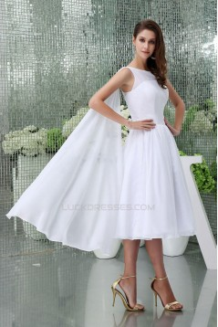 A-line Short Chiffon Bridal Wedding Dress WD010247