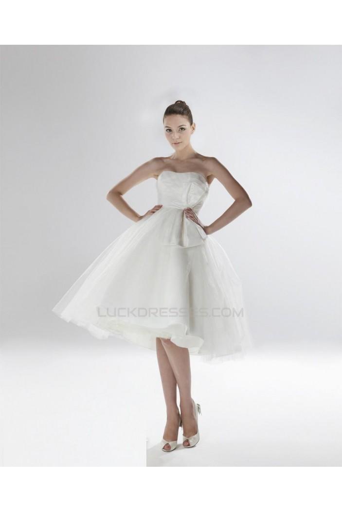A-line Strapless Short Bridal Wedding Dress WD010248