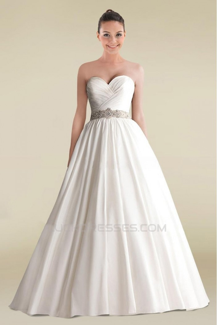 A-line Sweetheart Beaded Bridal Wedding Dress WD010250
