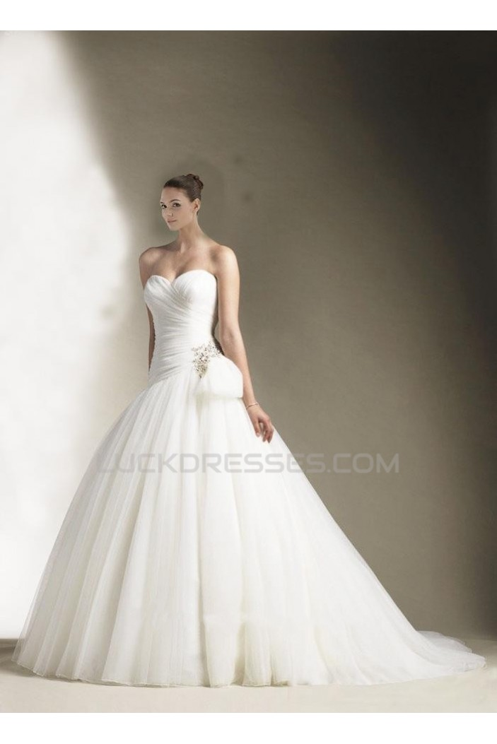 Ball Gown Sweetheart Court Train Bridal Wedding Dress WD010253