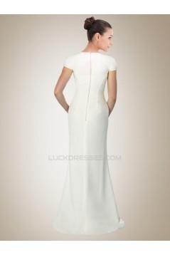 Trumpet/Mermaid Short Sleeves Bridal Gown WD010257