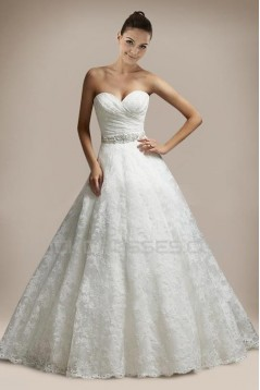 A-line Sweetheart Beaded Lace Bridal Gown WD010258