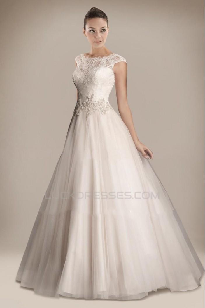 Elegant A-line Lace Bridal Gown WD010263