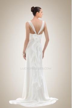 Sheath/Column Chiffon Bridal Gown WD010265