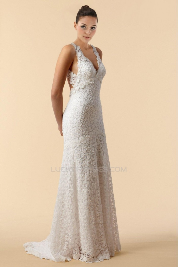 Sexy Lace V-neck Bridal Gown WD010267