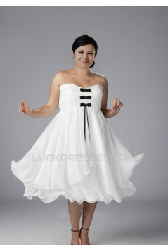 A-line Sweetheart Short Chiffon Plus Size Bridal Gown WD010275