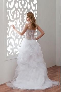 Sexy High Low Court Train Bridal Gown WD010276