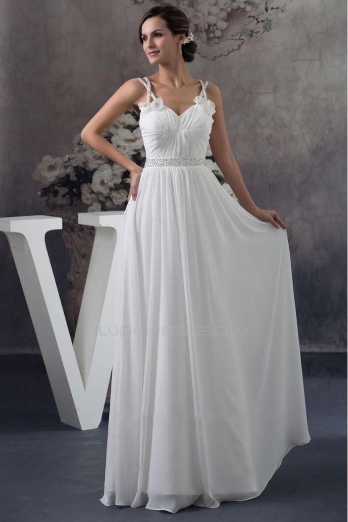 Sheath/Column Chiffon Floor Length Beaded Bridal Gown WD010279