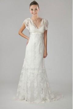 Trumpet/Mermaid V-neck Lace Bridal Wedding Dresses WD010281