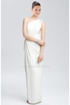 Sheath/Column One Shoulder Bridal Wedding Dresses WD010285