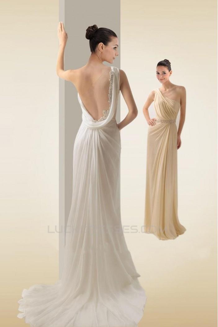 Sheath/Column One Shoulder Bridal Wedding Dresses WD010288