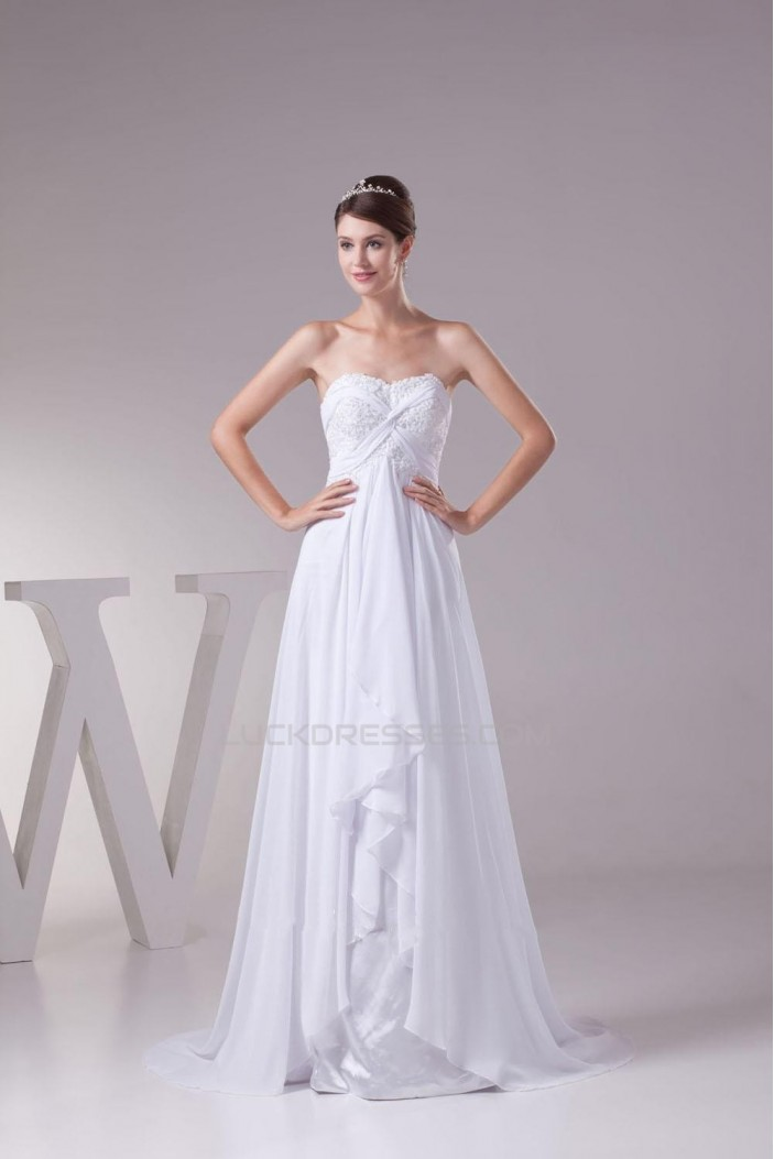 A-line Sweetheart Chiffon and Lace Bridal Wedding Dresses WD010292