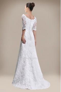 Elegant Half Sleeves Lace Bridal Wedding Dresses WD010297