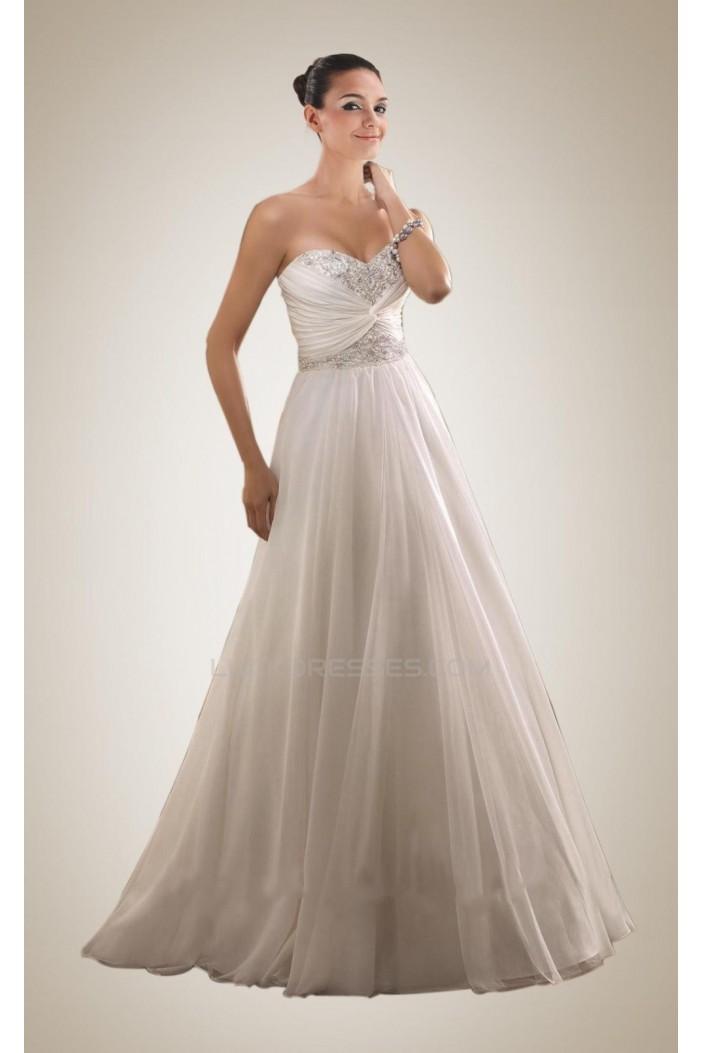 A-line Sweetheart Beaded Bridal Wedding Dresses WD010299