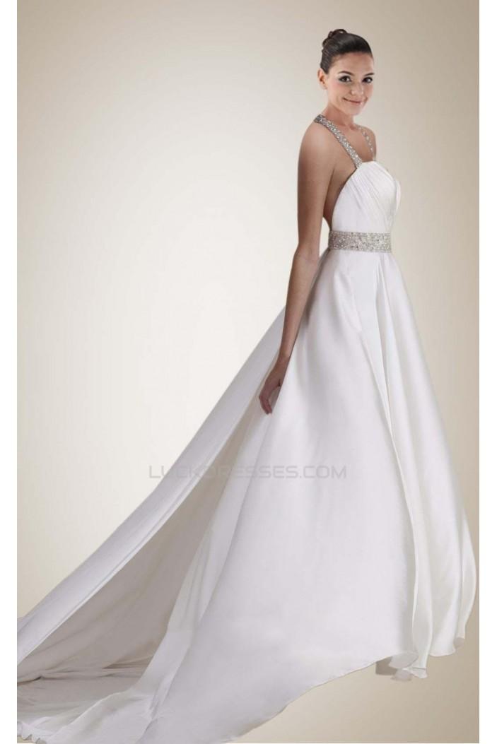 Sexy A-line Beaded Bridal Wedding Dresses WD010300