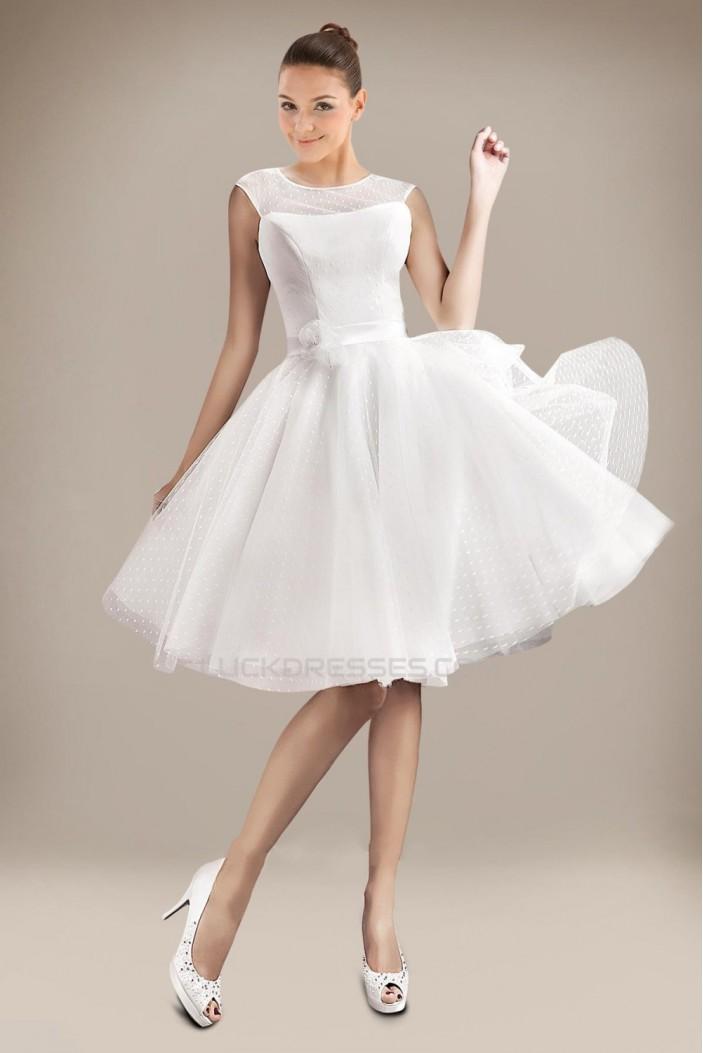 A-line Short Bridal Wedding Dresses WD010302