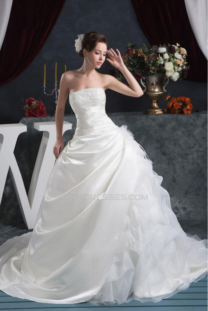 Ball Gown Strapless Bridal Wedding Dresses WD010304