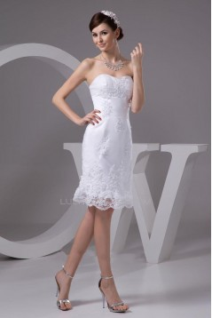 Short Sweetheart Lace Bridal Wedding Dresses WD010313