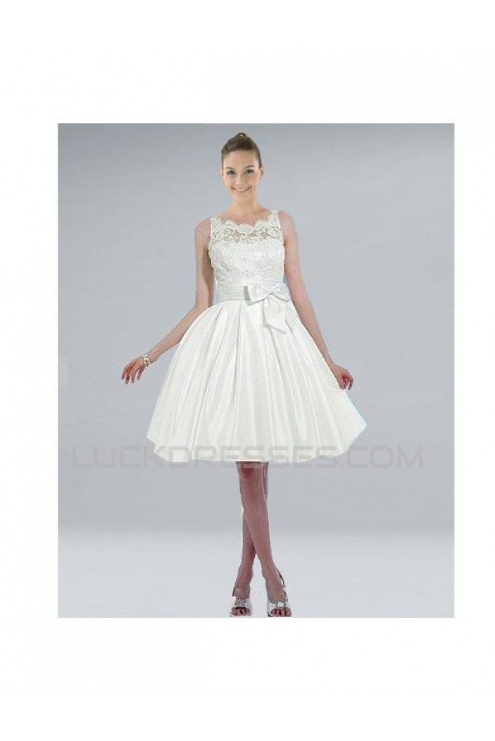 A-line Short Lace Bridal Wedding Dresses WD010317
