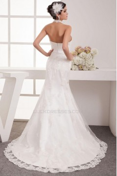 Trumpet/Mermaid Halter Lace Bridal Wedding Dresses WD010321