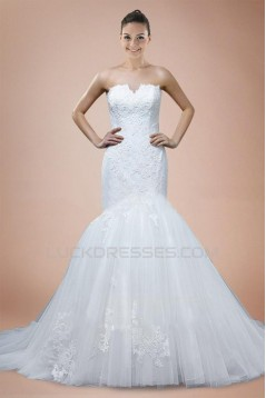 Trumpet/Mermaid Sweetheart Lace Bridal Wedding Dresses WD010323