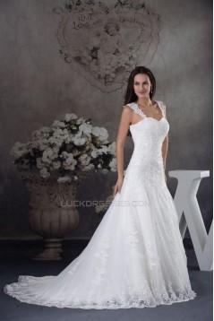 A-line Straps Lace Bridal Wedding Dresses WD010324