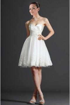 A-line Sweetheart Short Applique Bridal Wedding Dresses WD010325