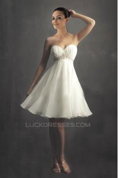 A-line Sweetheart Short Bridal Wedding Dresses WD010329