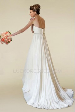Empire Beaded Chiffon Maternity Bridal Wedding Dresses WD010351