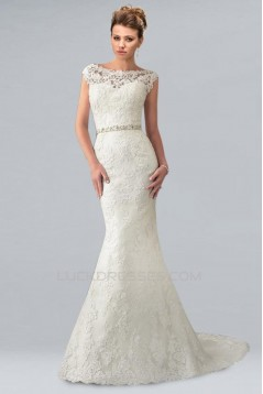 Trumpet/Mermaid Off the Shoulder Lace Bridal Wedding Dresses WD010353