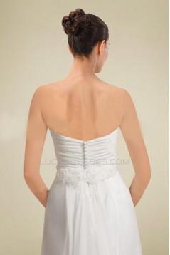 Sheath/Column Strapless Chiffon Bridal Wedding Dresses WD010361