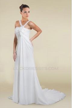 Sheath/Column Chiffon Bridal Wedding Dresses WD010363